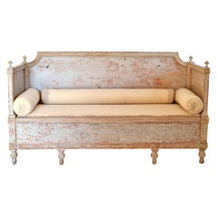 Decorative Original Color Gustavian Sofa