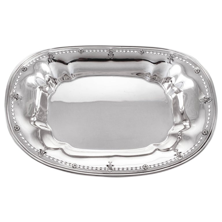 Sterling Oblong Dish For Sale