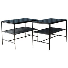 Pair of Paul McCobb Planner Group Iron Side Tables, U.S.A, 1950s