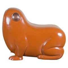 Frog Seat, Mila Lacquer by Robert Kuo, Hand Repousse, Limited Edition