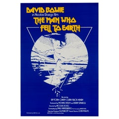 "David Bowie ""The Man Who Fell To Earth"" Vintage Movie Poster, British, 1976"