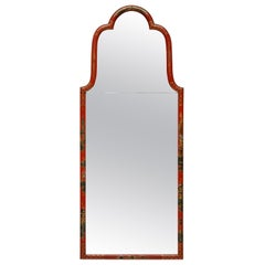 Fine Queen Anne Style Japanned Mirror