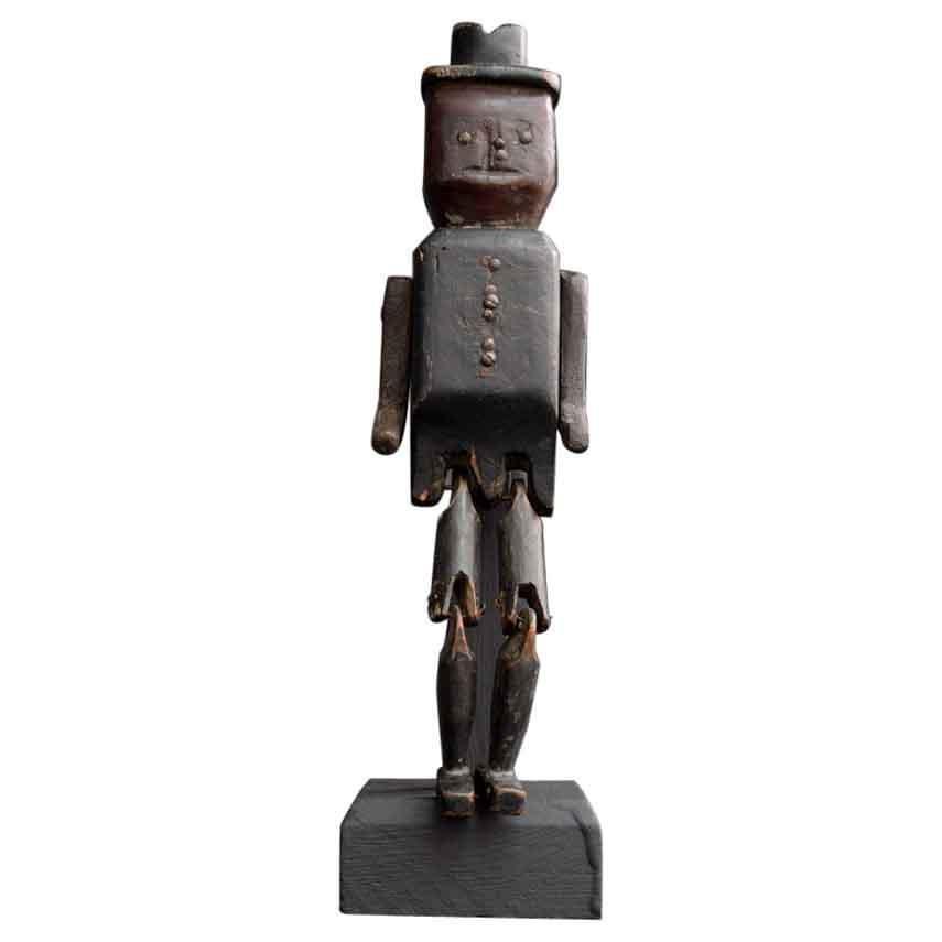 Late 19th Century English Folk Art Jig Doll