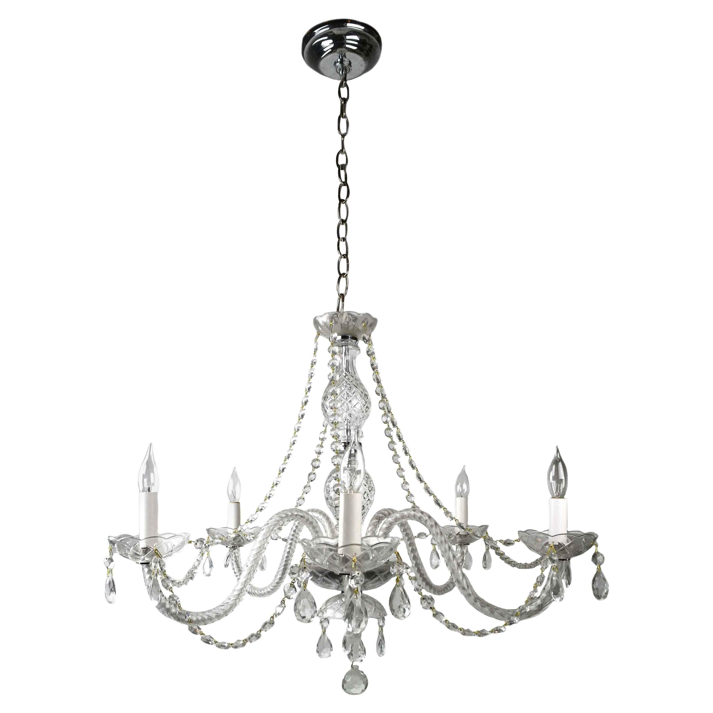 Elegance Crystal Swag Chandelier 6 Light Shades of Light