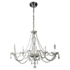 Crystal 5-Arm Chandelier with Roping