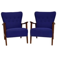 Pair of Fritz Hansen Style Armchairs