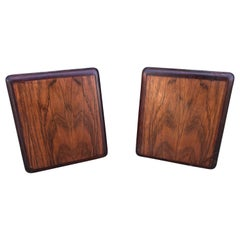 1960s Danish Modern Style Rosewood Modern Bookends