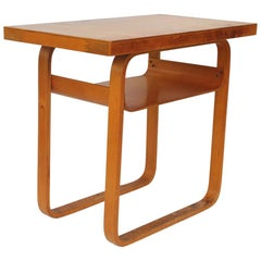 Vintage Alvar Aalto 2-Tiered Birch Table