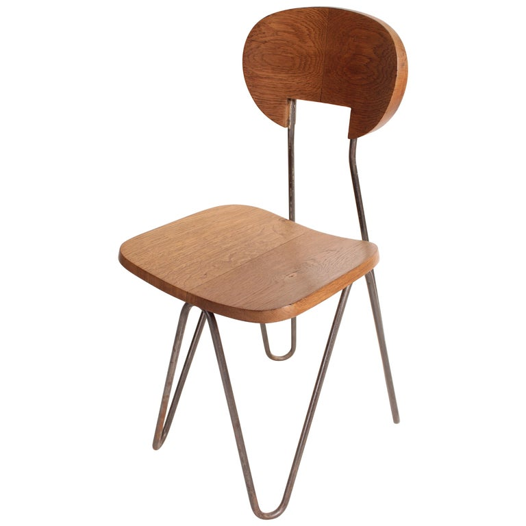 W Chair by Cesar Janello for Raoul Guys Aa Éditions, 1947 For Sale