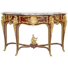 Fine Francois Linke Ormolu-Mounted Kingwood Console Table