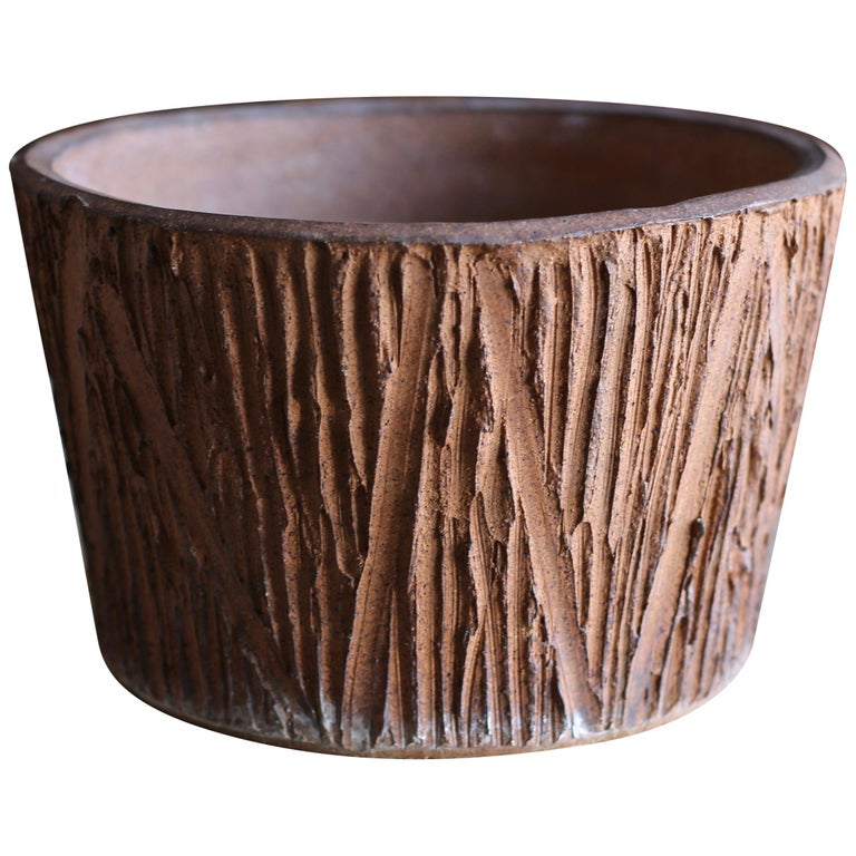 """""""Scratch"""" Pattern Planter by David Cressey for Architectural Pottery For Sale"""