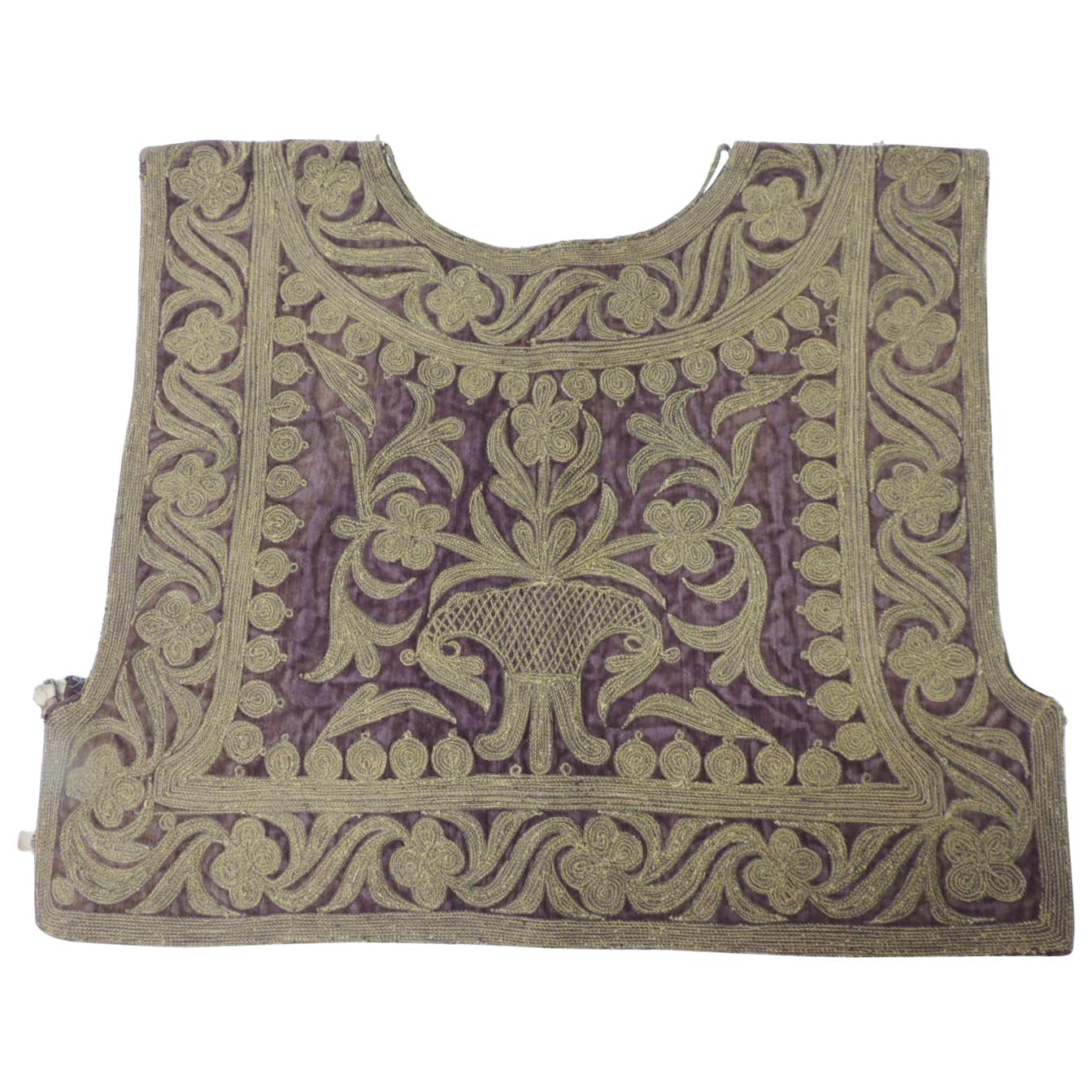 19th Century Ottoman Empire Intricate Heavy Embroidered Vest