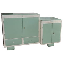 1930s Art Deco Washstand and Cabinet