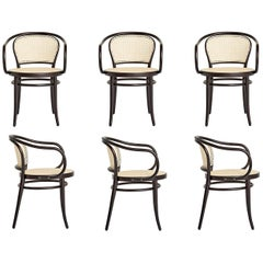 Set of 6 Rattan Dining Chairs in Dark Wenge