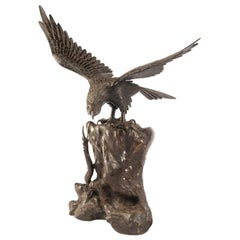 19th Century, Japanese Bronze Eagle