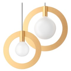 Radius, Contemporary Pendant Lamps, Brass