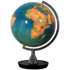 Midcentury Illuminated Globe, 1970s