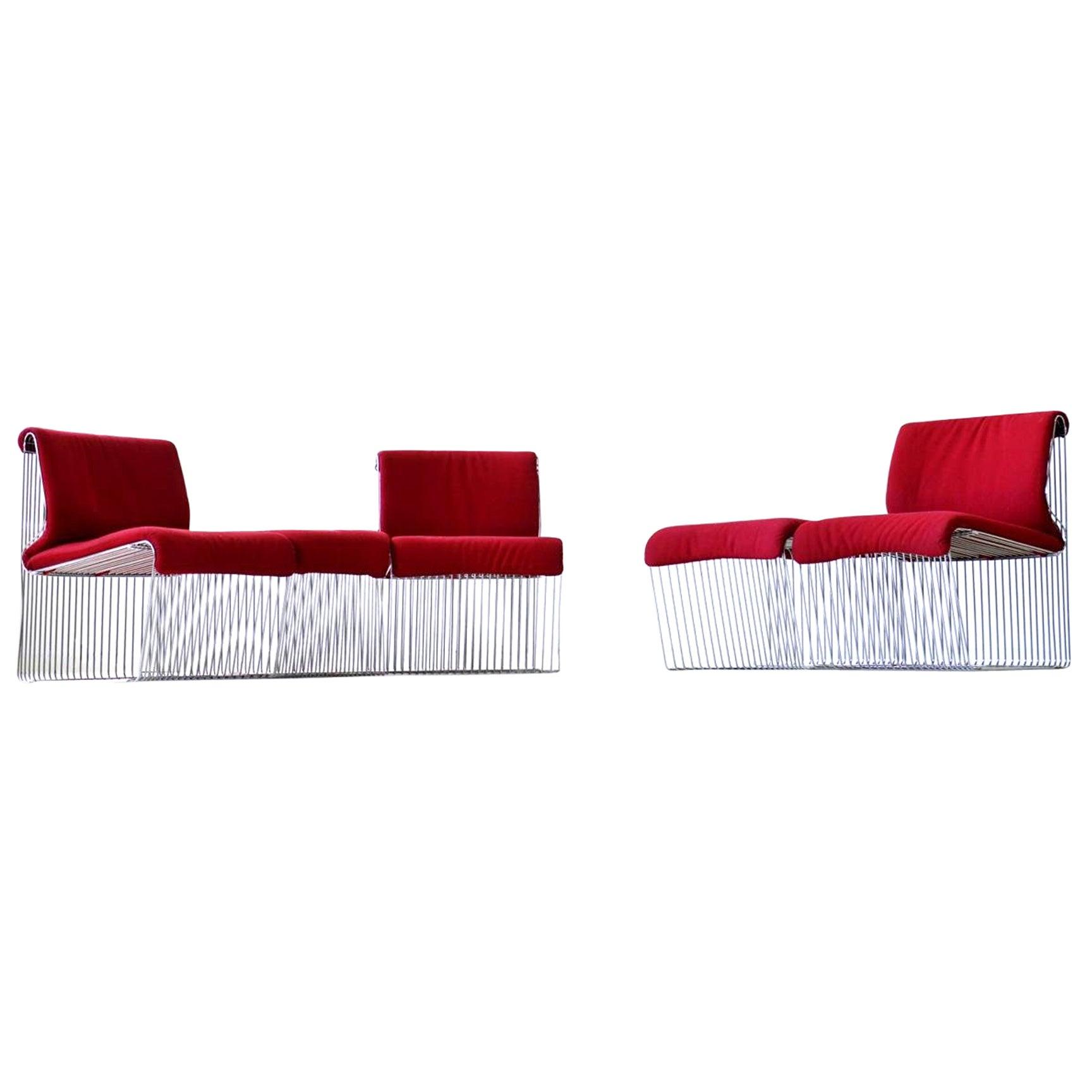 Pantonova Fritz Hansen Verner Panton Chair Sofa Modules Original Fabric