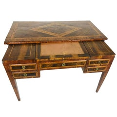 Early 18th Century English Inlay Desk with Sliding Top