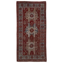 Antique Distressed Kazak Rug