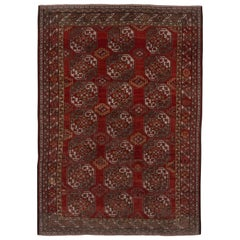 Antique Red Afghan Ersari Carpet
