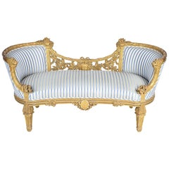 French 2-Seat Sofa, Late 19th Century
