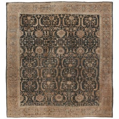 Antique Lightly Distressed Persian Sultanabad Rug, circa 1890