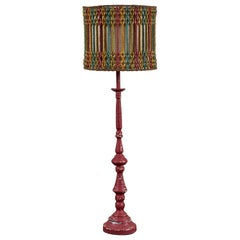 Vintage Lamp with Beaded Shade