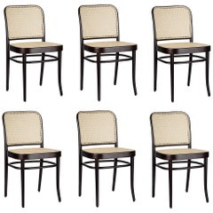 Set of 6 Natural Rattan Dining Chairs in Dark Cocoa