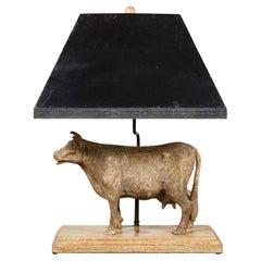 Vintage Cow Lamp