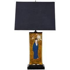 Vintage Églomisé Lamp