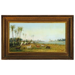 19th Century American School Depicting an Oriental Landscape