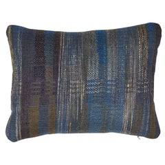 Indian Handwoven Pillow Midnight Stripes