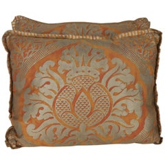 Pair of Italian Fortuny Accent Pillows