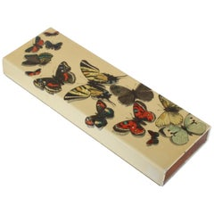 "Early Piero Fornasetti Enameled ""Farfalle"" Butterfly Trinket Box, circa 1950s"