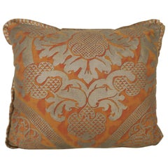 Sunkist and Silvery Gold Fortuny Pillow with Flange Detail
