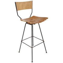 Pair of Arthur Umanoff Mid-Century Swivel Bar Stool