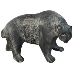 Large Midcentury Pottery Bear, Attributed to Tony Evans