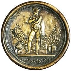 """Antique French Brass Napoleonic """"Le Grand"""" Snuff Box"""
