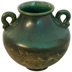 Raku Pottery Classical Vase, by Tony Evans