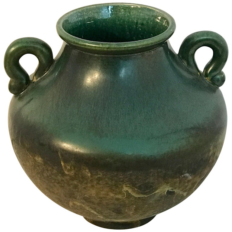 Raku Pottery Classical Vase, by Tony Evans For Sale