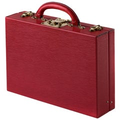 Louis Vuitton Red Epi Leather Jewelry Case