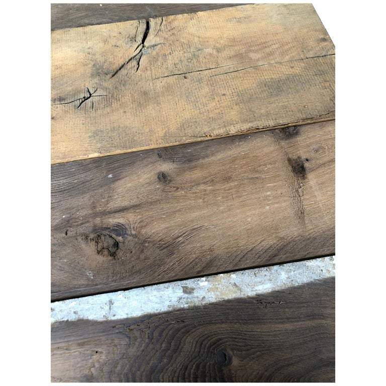 Original French Antique Solid Wood Oak Flooring, France, 18th Century For Sale