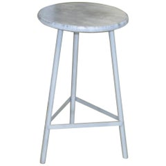 Midcentury Round Metal Hungarian Industrial Stool, 1960s