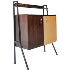 Two-Colored Italian Mid-Century Modern Bar Cabinet in the Manner of Gio Ponti