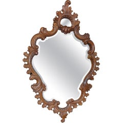 19th Century Richly Decorated Rococo Wall Mirror, circa 1880
