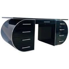 High Gloss Black Design Desk