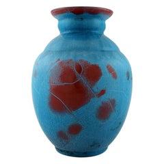 Ipsen's, Denmark Art Deco Ceramic Vase, Beautiful Turquoise Glaze, 1940s-1950s