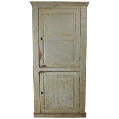 George III Original Painted Pine Hall or Kitchen Cupboard