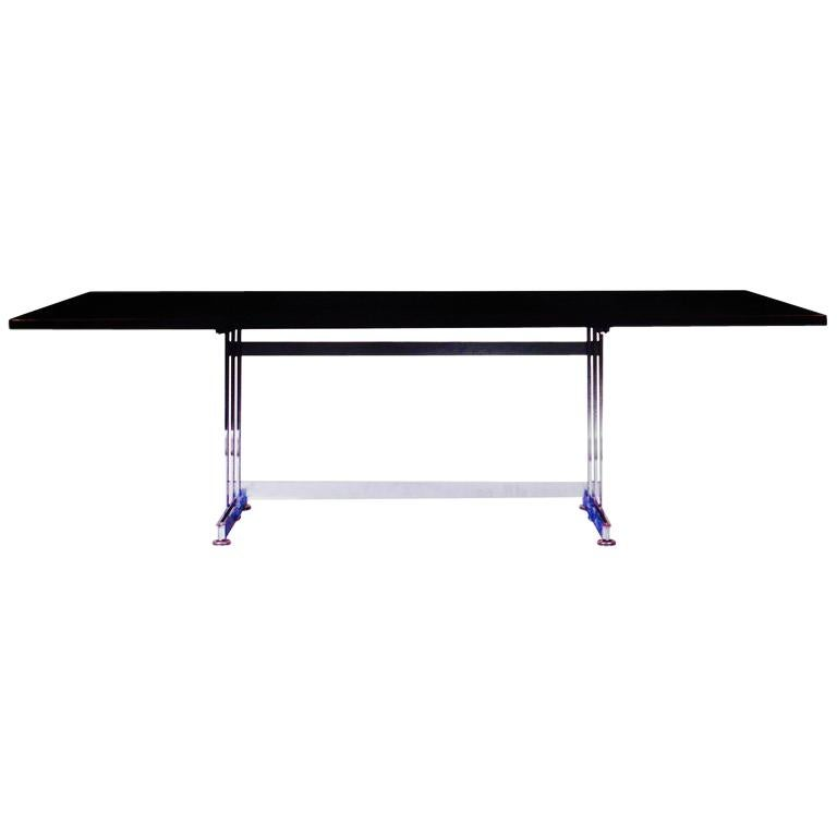 Dining or Desk Table with a Palisander Top by Jules Wabbes, Belgium, 1960 For Sale